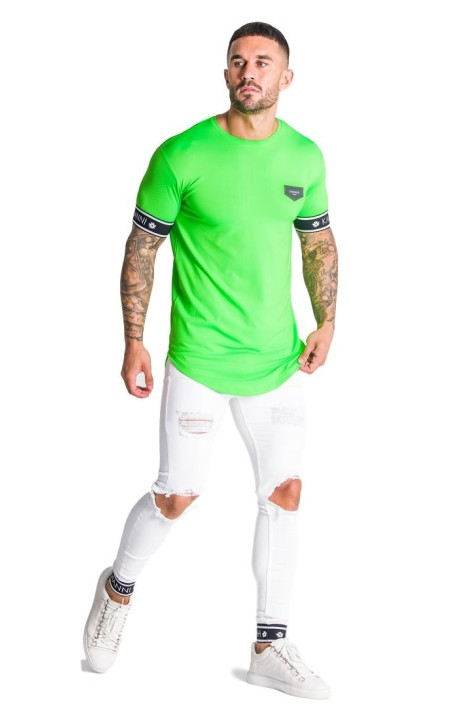 Camiseta SikSilk Sleeve Gym Khaki