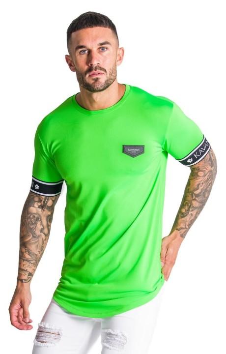 Camiseta Gianni Kavanagh Verde neón con elástico GK