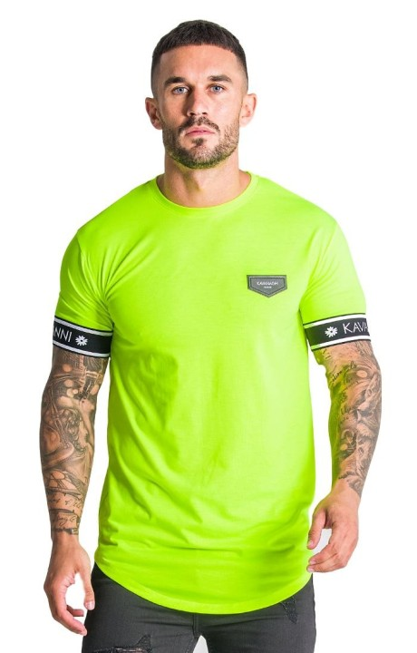 Camiseta Gianni Kavanagh Amarillo neón con elástico GK