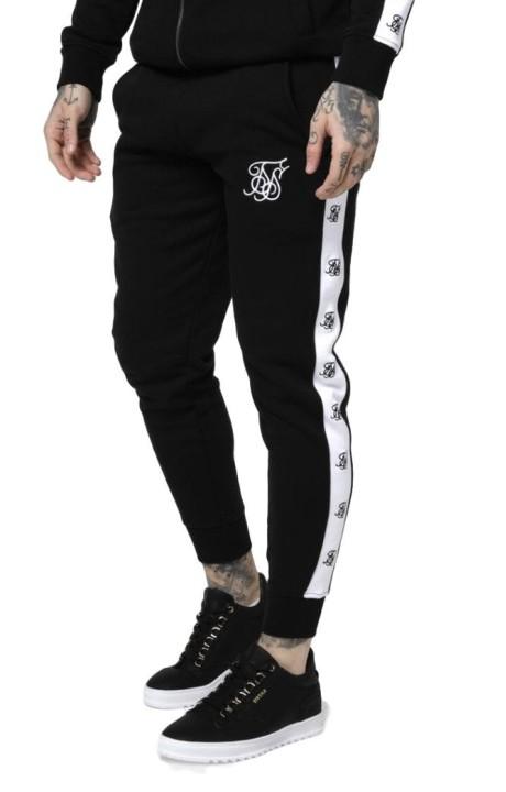 Pantalon SikSilk Muscle Fit Negro