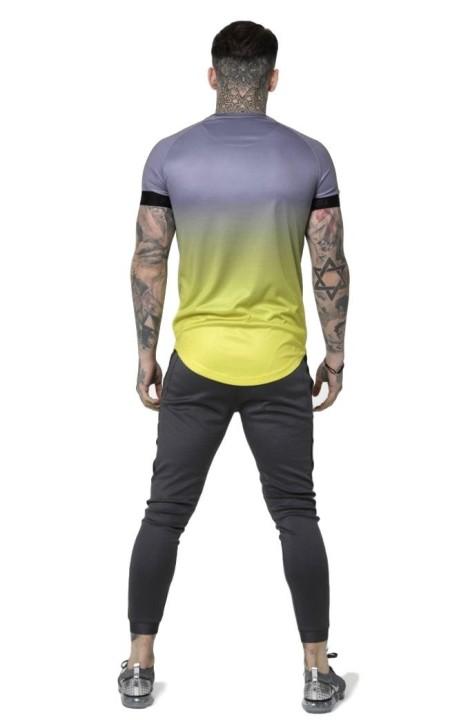 Camiseta SikSilk Raglan Contraste Ringer Violeta