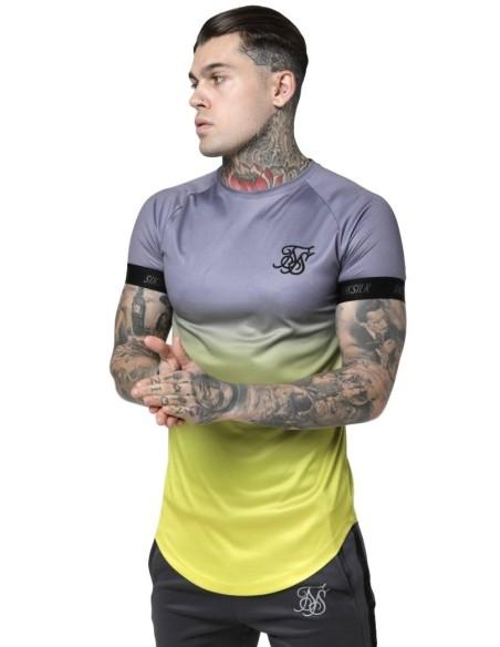 Shirt By SikSilk Raglan Contrast Ringer Violet