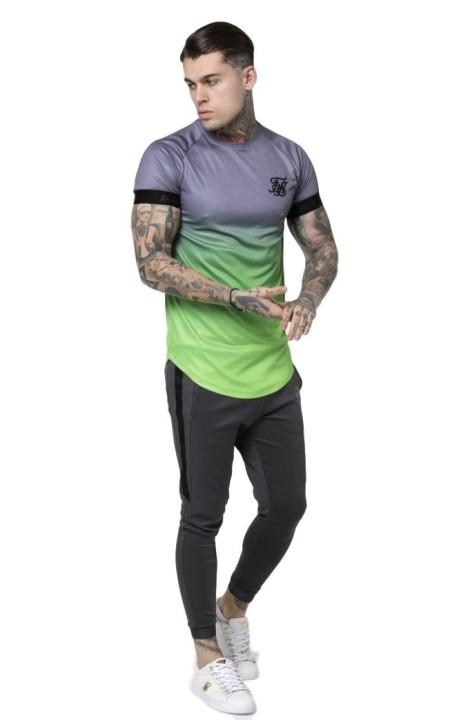 Camiseta SikSilk Raglan Contraste Ringer Gym Verde Claro