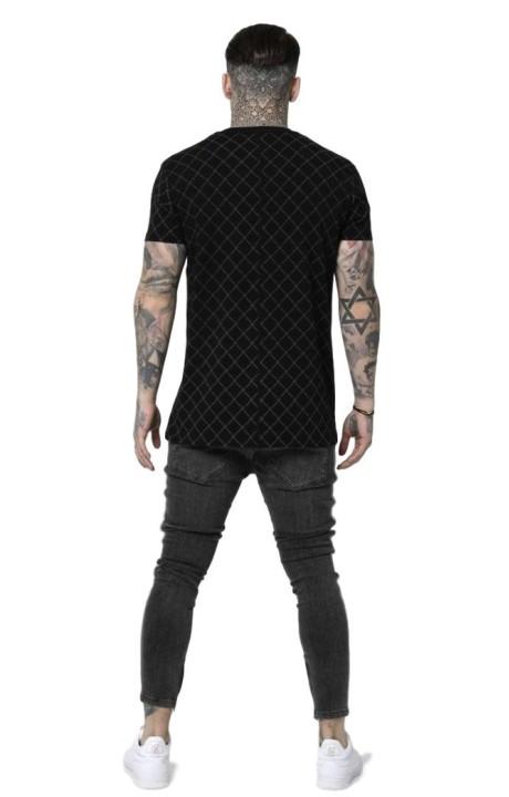 T-Shirt J'Ai Volé La Lumière Crâne Blanc Or Strass