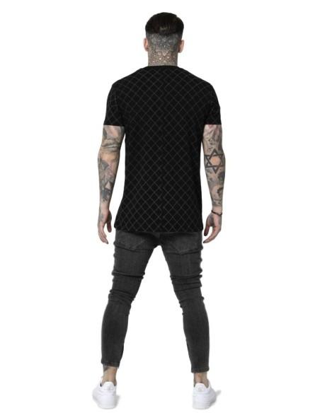 Camiseta SikSilk Reverse Collar Negro