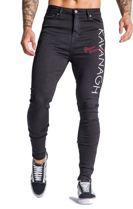 Jeans Gianni Kavanagh black with Intersection Red