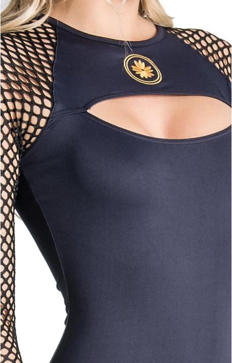 Shirt by SikSilk Baseball Black and Gold