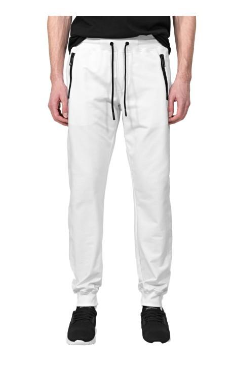 Pantalón de Felpa Blanco con Placa Antony Morato