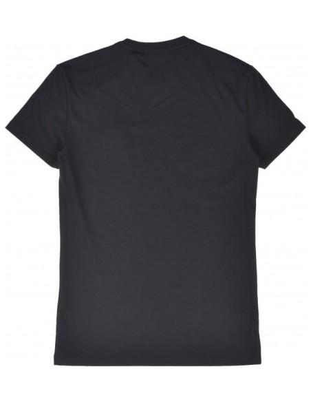 Camiseta SikSilk Logo con Contraste Gym Blanco
