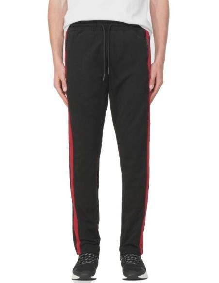 Pantalon Antony Morato Noir avec des ligne et logo latéral