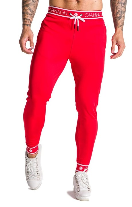 Pantalon de survêtement Gianni Kavanagh rouge avec élastique GK