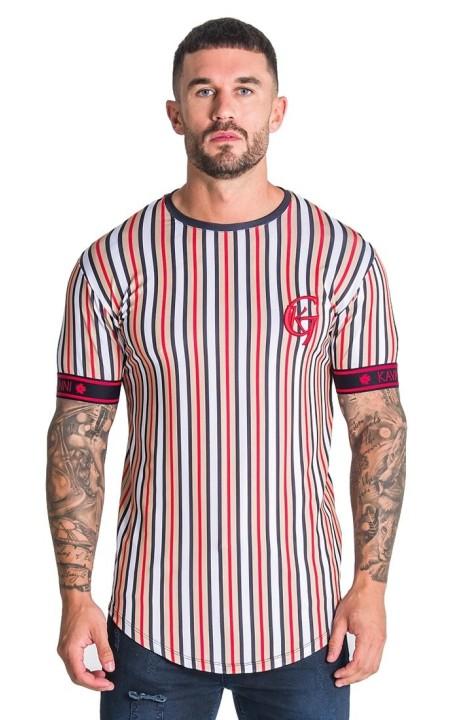 Camiseta Gianni Kavanagh a rayas con elástico rojo GK