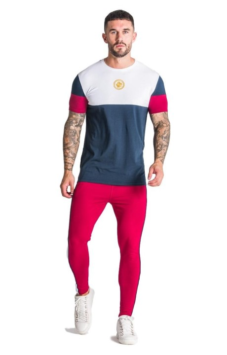 Camiseta SikSilk Fitted Elastic Sleeve Crop Rojo