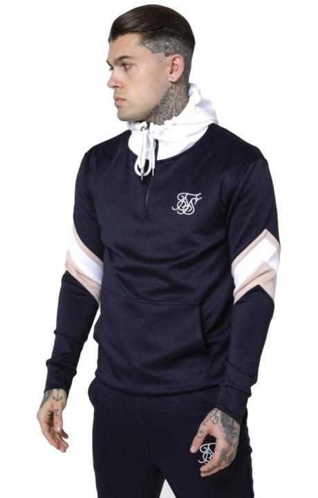 Sudadera SikSilk con capucha Overhead Azul Marino