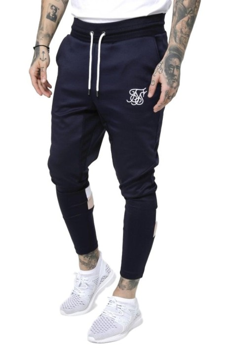 Pantalón de chandal SikSilk Azul Marino, Rosa y Blanco