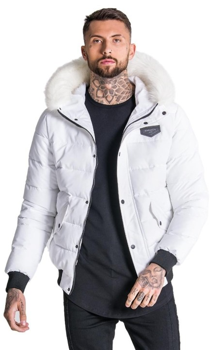 Jacket Bomber Gianni Kavanagh Hooded White