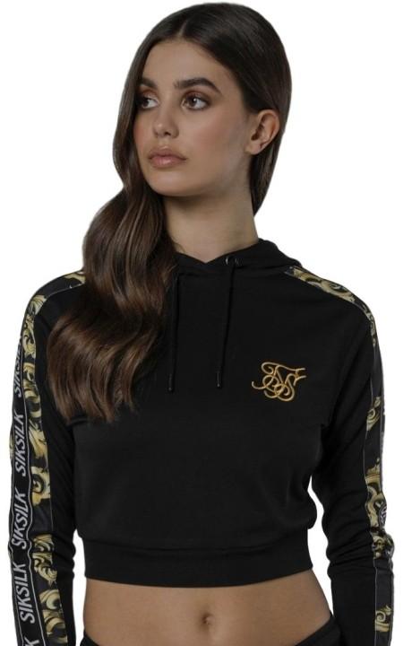 Sweatshirt with short hood SikSilk Venetian Black