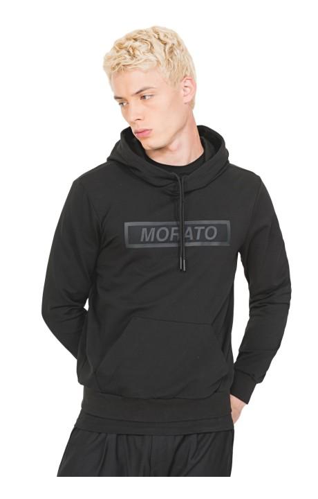 Sudadera Antony Morato Negra con Estampado Frontal