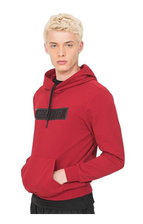 Sweat-shirt Antony Morato-Rouge avec un imprimé sur le Devant