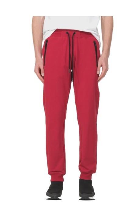 Pantalón de Felpa Rojo con Placa Antony Morato