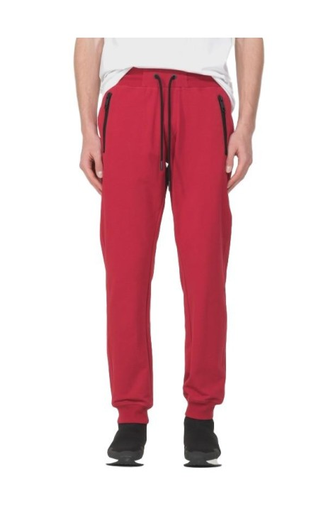 Pantalon en Molleton Rouge avec Plaque Antony Morato