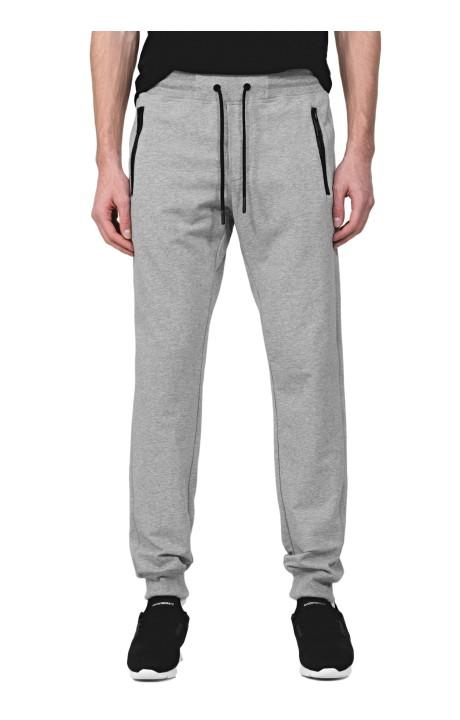 Pants Fleece Gray with Plate Antony Morato