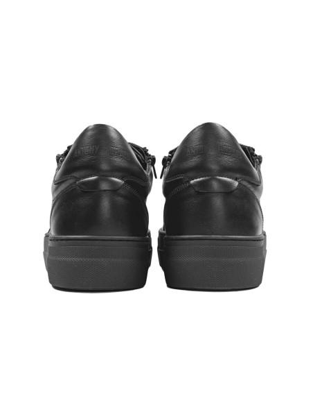 Zapatillas Antony Morato Low Zipper Piel Negra