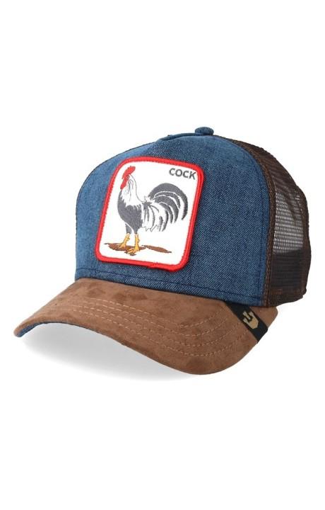 Cap, Goorin Bros Rooster Brown And Denim Big Strut