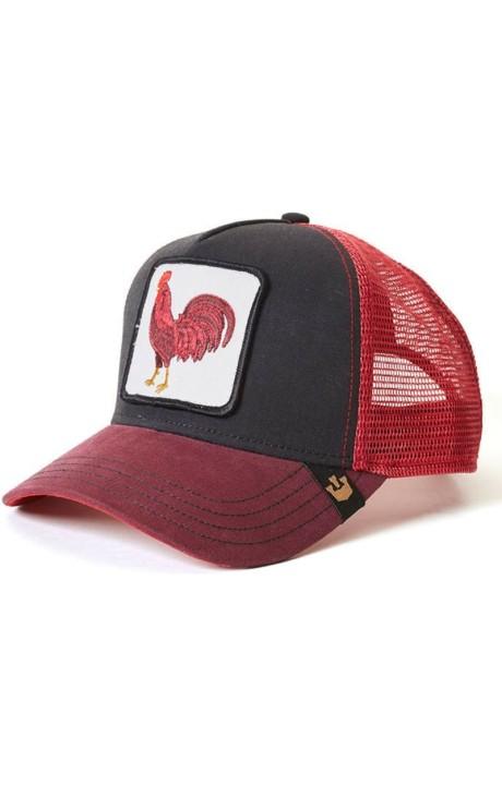 Cap, Goorin Bros Red & Black Rooster Barnyard King