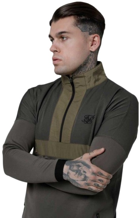 Sudadera de Chandal SikSilk Evolution Caqui