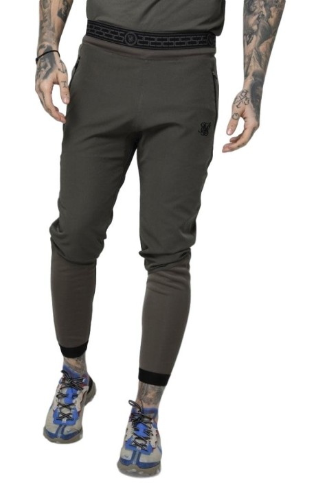 Pantalon de Chandal SikSilk Evolution Caqui