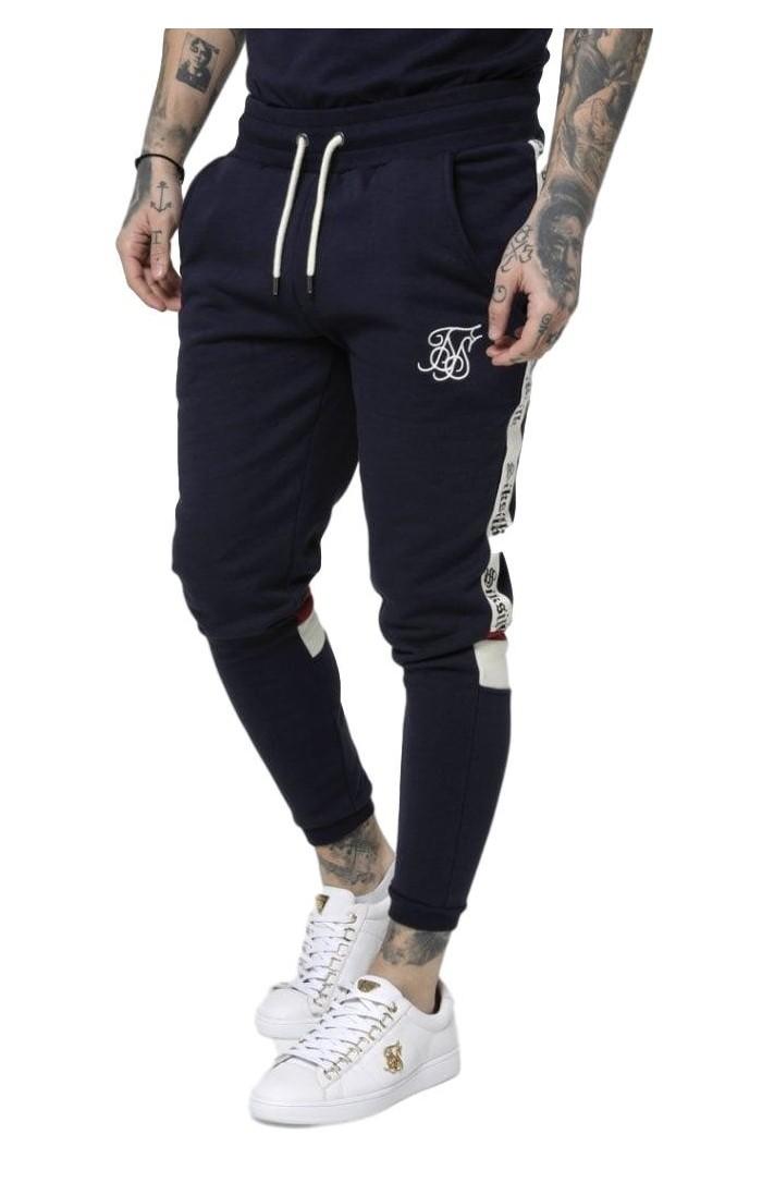 Pantalon de Chandal SikSilk Retro Panel Azul Marino