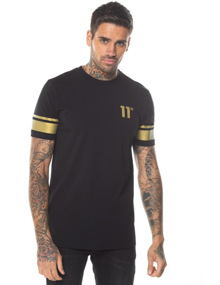 T-Shirt 11 Degrees Double Black Stripe