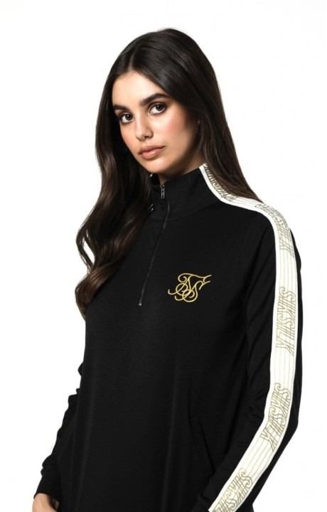 Sweat-Shirt SikSilk Demi-Zip Noir