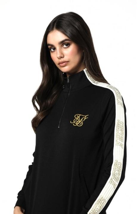 Sweatshirt SikSilk Half Zip Black