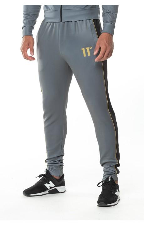 Pantalon de Chandal 11 Degrees Chevron Antracita y Negro