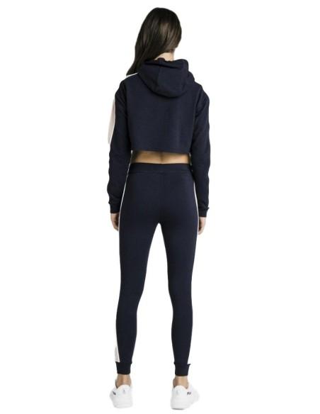 Sweatshirt with Hood SikSilk Navy Blue