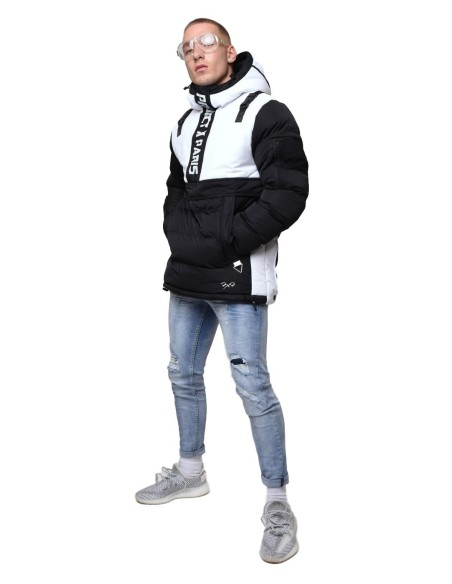 Parka Project X Paris two-Tone Black and White with Details