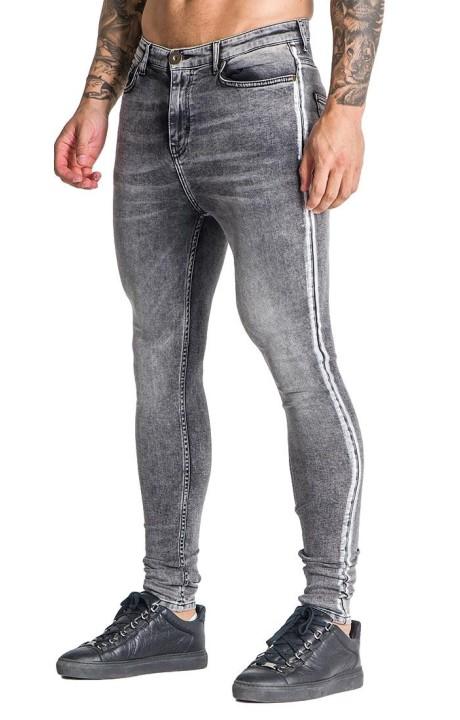 Jeans Gianni Kavanagh grises con rayas blancas