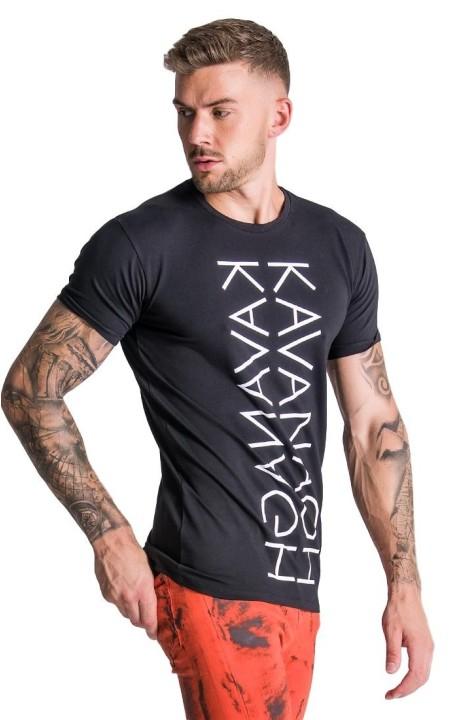 Camiseta Gianni Kavanagh Negra con Estampado de Espejo