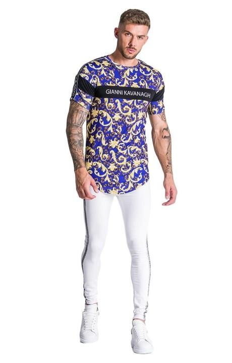 Camiseta Gianni Kavanagh Azul de Leopardo Barroco