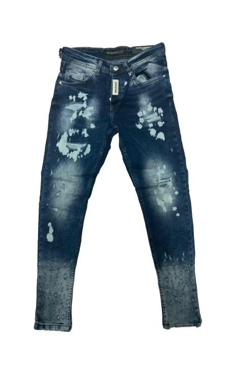 Jeans Mario Morato Skinny Fit White Plate