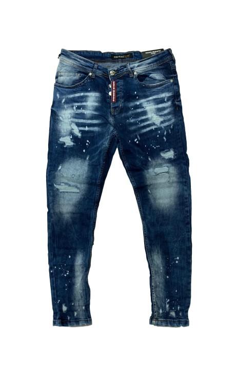 Jeans Mario Morato Despimntados Skinny Fit Placa Roja