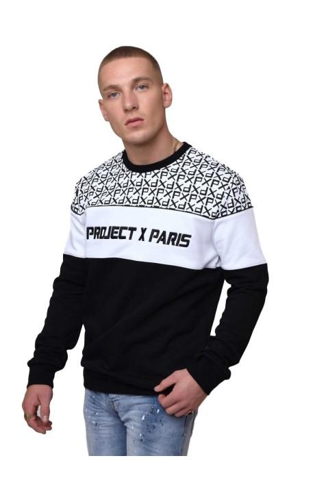 Sweatshirt Project X Paris Round Neck Black,White
