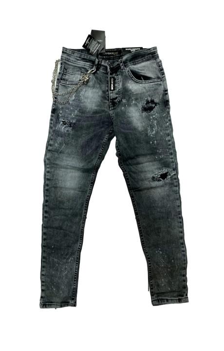 Jeans Mario Morato Skinny Fit Negro Desgastado