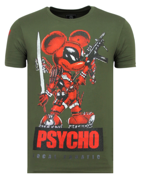Camiseta Local Fanatic Psycho Mouse