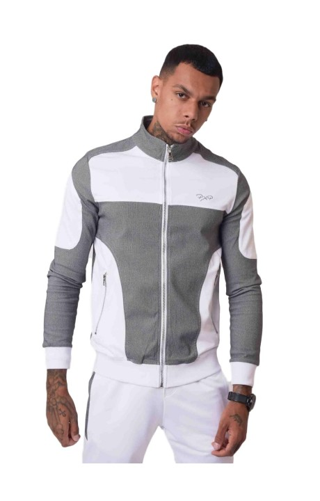 Jacket Project X Paris with Bimateriales Textured White