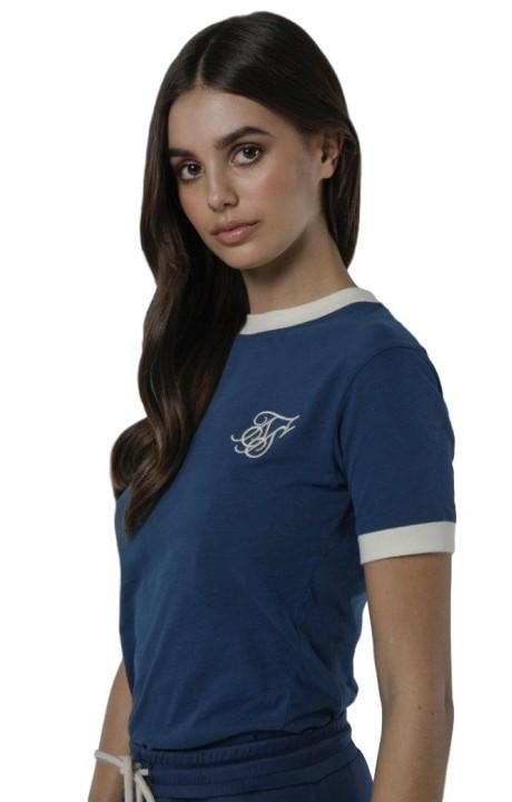 Camiseta SikSilk Ringer Verde Azulado