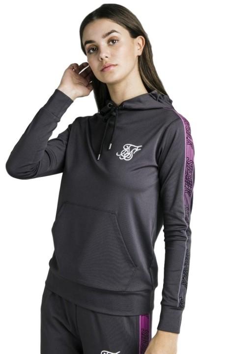 Sweatshirt with Hood SikSilk Fade Runner Cover Grey Iron
