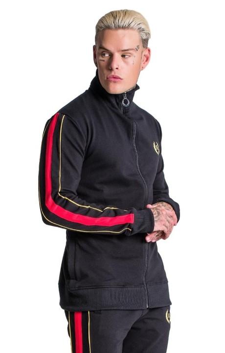 Jacket Roone Roman Black With Details Bordeaux